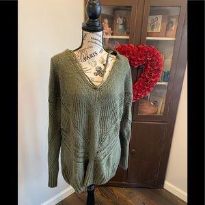 TORRID green sweater size 2
